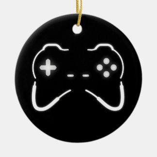 Game Controller Round Ceramic Decoration