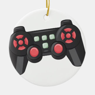 Game Controller Round Ceramic Decoration