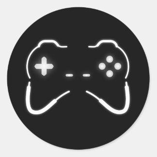 Game Controller Round Sticker