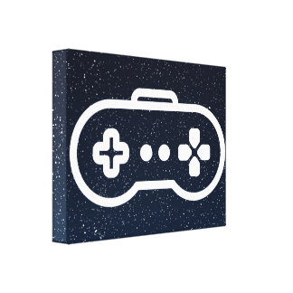 Game Controllers Pictogram Canvas Print