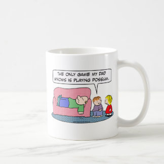 game dad knows playing possum kids coffee mugs