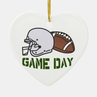 Game Day Ceramic Heart Decoration