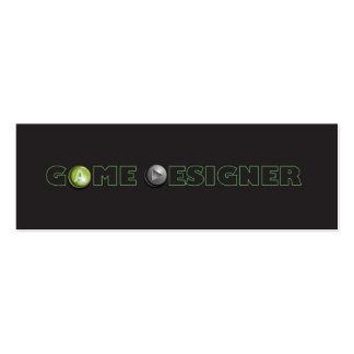 Game Designer Skinny Business Card