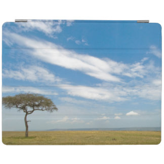 Game drive vehicle on open African plains iPad Cover