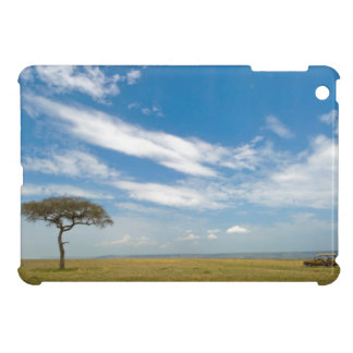 Game drive vehicle on open African plains iPad Mini Cover