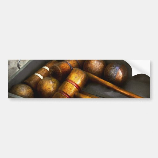 Game - Everyone loves to play Croquet Bumper Sticker