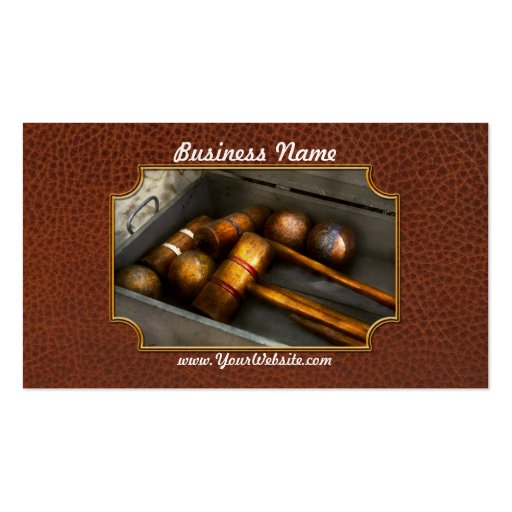 Game - Everyone loves to play Croquet Business Card Template