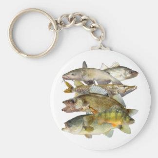 Game Fish Basic Round Button Key Ring