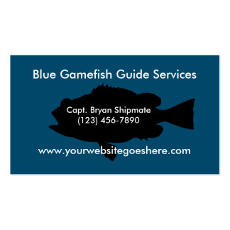 Game Fish Guide Services Pack Of Standard Business Cards