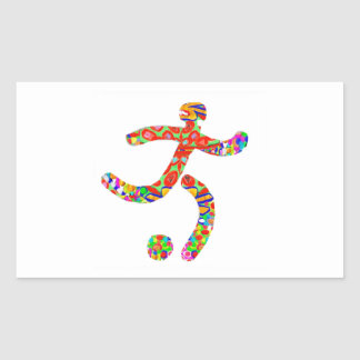 Game FootBall Icon Symbol Rectangular Sticker