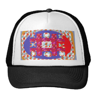 GAME Hearts Colorful Abstract Excellent Romantic Mesh Hats