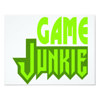 "Game Junkie 4.25"" X 5.5"" Invitation Card"