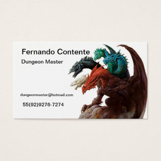 Game Master Business Card