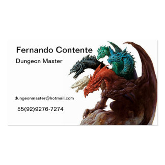 Game Master Pack Of Standard Business Cards