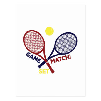 Game Match Set Postcard
