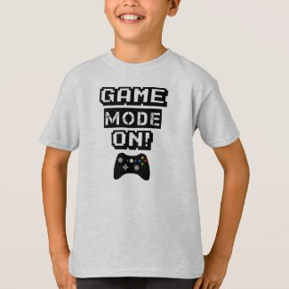 Game Mode funny gamer kids t-shirt