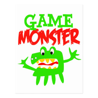 Game Monster Postcard