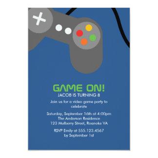 Game Night Birthday Party 13 Cm X 18 Cm Invitation Card