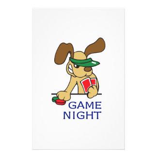 GAME NIGHT CUSTOM STATIONERY