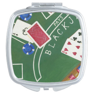 Game of Blackjack with Chips by Chariklia Zarris Makeup Mirrors