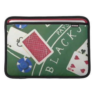 Game of Blackjack with Chips by Chariklia Zarris Sleeve For MacBook Air