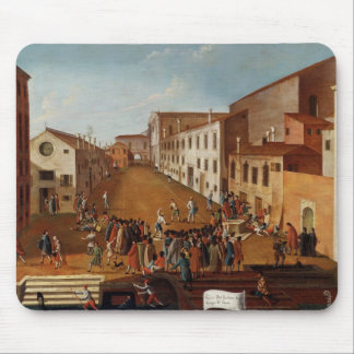 Game of Bowls in the Campo dei Gesuiti, Venice Mouse Mat