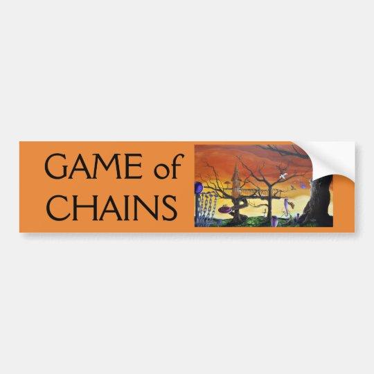 GAME of CHAINS bumper sticker