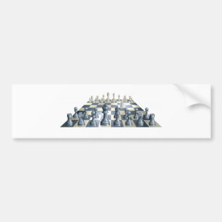 Game of chess illustration bumper sticker