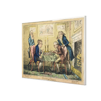 Game of Chess, published by H. Humphrey, London (c Canvas Print