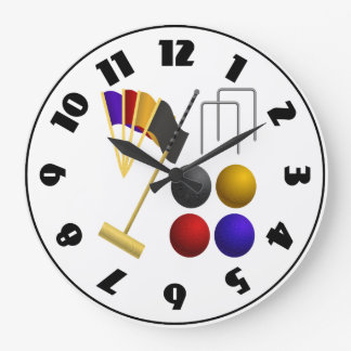 Game Of Croquet Clock