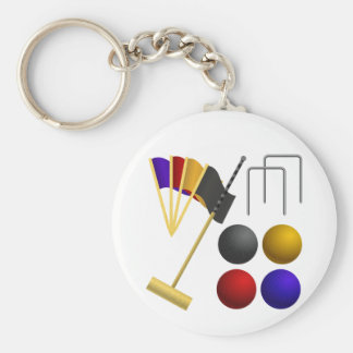 Game Of Croquet Keychain