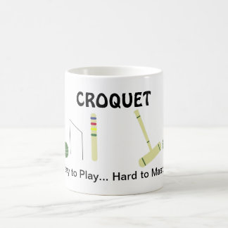 Game of Croquet with Saying Coffee Mug
