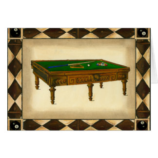 Game of Eight Ball on Billiards Table Card