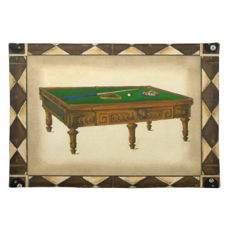Game of Eight Ball on Billiards Table Placemat