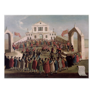 Game of Football at Sant Alvise Venice Print
