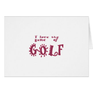 Game of Golf Greeting Card
