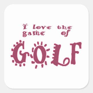 Game of Golf Square Sticker