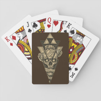 """Game of letters """"Skull pyramid """" Playing Cards"""