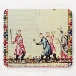 Game of pelota in the open air mouse mat