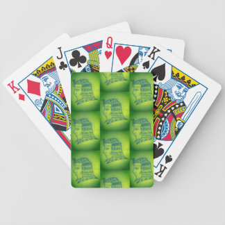 game of pocker with subject faraó in green bicycle playing cards