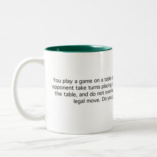 Game of Quarters Two-Tone Coffee Mug