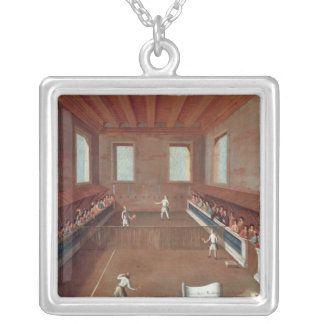 Game of Racquets Silver Plated Necklace