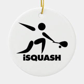 Game Of Squash iSquash Logo Double-Sided Ceramic Round Christmas Ornament