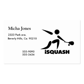 Game Of Squash iSquash Logo Pack Of Standard Business Cards
