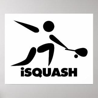 Game Of Squash iSquash Logo Poster