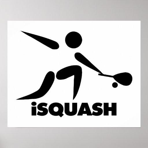 Game Of Squash iSquash Logo Print
