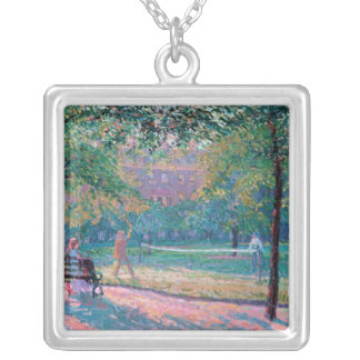 Game of Tennis Silver Plated Necklace