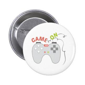 Game On 6 Cm Round Badge