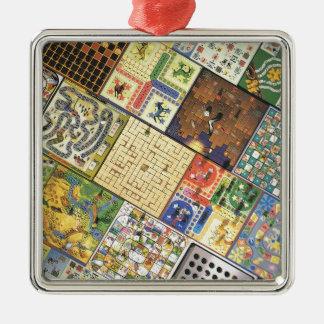 Game on!  Board games Silver-Colored Square Decoration