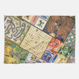 Game on!  Board games Tea Towel